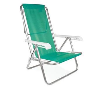 Imagen de Silla reposera aluminio 8p 2271 2267 color verde agua