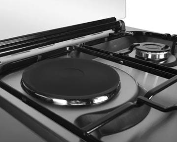 Imagen de Cocina Combinada Vicenza Eldom Inox Turbina 3h Gas Y Disco Rápido