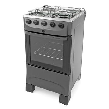 Imagen de Cocina a gas Mueller Fratello 4h inox encendido
