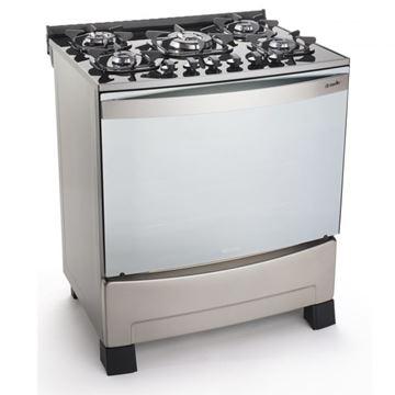 Imagen de Cocina a gas Mueller Decorato 5h VETRO inox
