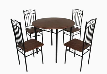 Imagen de Comedor 4 sillas caño redondo 82743