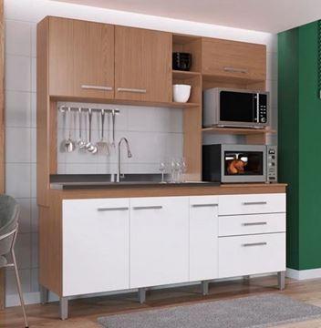 Imagen de Mueble Alacena Kit Cocina Compacta 6 Puertas 3 Cajones Petra Decibal 2 cajas