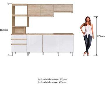 Imagen de Mueble Alacena Kit Cocina Compacta 7 Puertas 2 Cajones Alecrim Decibal 4 cajas