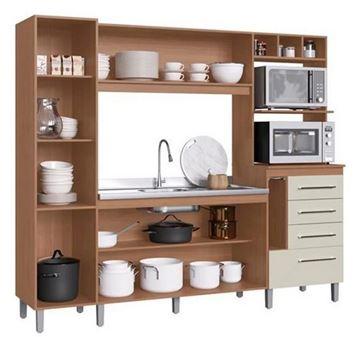Imagen de Mueble Alacena Kit Cocina Compacta 6 Puertas 4 Cajones Hannover Decibal 3 cajas