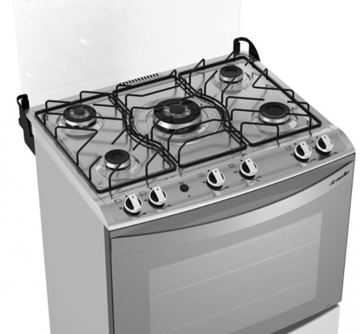 Imagen de Cocina a gas Mueller Decorato 5H INOX G2