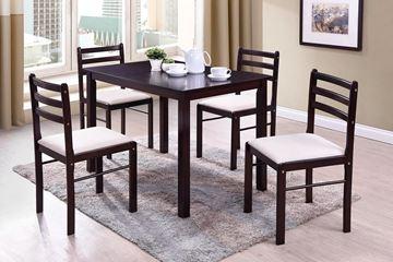 Imagen de Comedor 4 sillas Start Movequip Rian rectangular color Caoba 1 caja