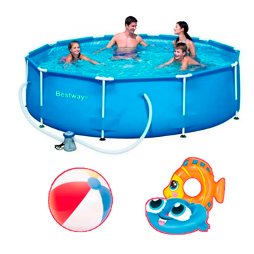 Imagen de Combo Bestway 6473 piscina y accesorios