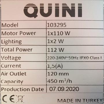Imagen de Campana extractora QUINI PIRAMIDAL 60 cms inox