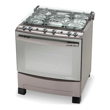 Imagen de Cocina a gas Mueller DECORATO MAXXI grill luz acero