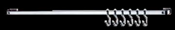 Imagen de Barra piatina 80cm c/6 ganchos FU2413
