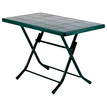 Imagen de Mesa plástico 118 x 68 cms verde patas metal plegable 2 bultos