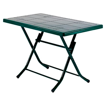Imagen de Juego exterior TUCSON mesa verde plegable 6+1 seis sillas CEM verde 3 BULTOS