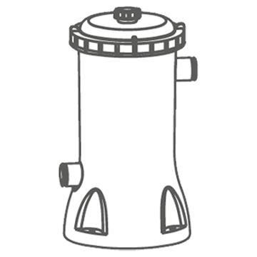 Imagen de Piscina Bestway 56418 9150 lts inc: escalera bomba, mangueras filtro
