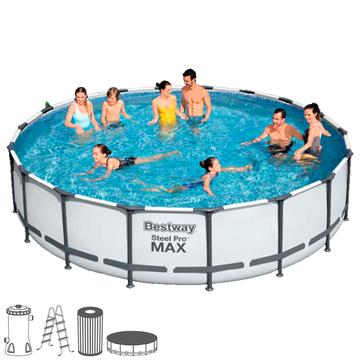 Imagen de Piscina Bestway 56950 13030 lts piscina, escalera, bomba, mangueras, filtro, cubre piscina